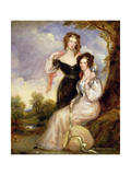 The Countess of Chesterfield and the Hon. Mrs. George Anson, Daughters of Cecil, First Lord… Giclee Print by Sir Francis Grant
