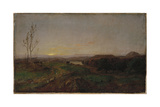 Early Evening Landscape Giclee Print by Jasper Francis Cropsey
