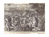 Giovanni De' Medici Defeated in Parma, Plate from 'The History of the Medici', Engraved by Philip… Giclee Print by Jan van der Straet