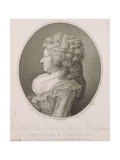 Marie Therese Louise De Savoie-Carignan (1749-92) Princess of Lamballe, 1791 Giclee Print by Henri-Pierre Danloux