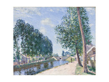 The Loing Canal at Moiret, C.1892 Giclee Print by Alfred Sisley