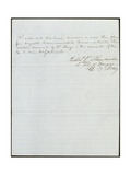 Letter Concerning Use of Cipher Giclee Print by Edward Porter Alexander