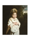 The Strawberry Girl, 1773-77 Giclee-trykk av Sir Joshua Reynolds