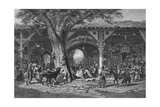 A Street in Damascus, Engraved by C. Bertrand Giclee Print by Carl Friedrich Heinrich Werner