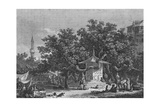 A View Near the City of Damascus, Engraved by Heath Giclee Print by Conrad Martin Metz