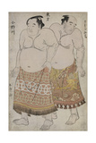 Full Length Portraits of Wrestlers of the Eastern Group, Depicting Uzugafuchi and Onagawa Giclee Print by Katsukawa Shunsho