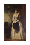Portrait of a Lady in a Winter Landscape Giclee Print by Sir Francis Grant