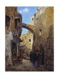 Street Scene in Jerusalem Giclee Print by Gustave Bauernfeind