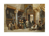 Arabic Figures in a Coffee House, 1870 Giclee Print by Carl Friedrich Heinrich Werner