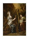St. Cecilia Giclée-tryk af Francesco Solimena
