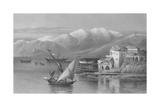 Bay of Beirut, Engraved by C. Cousen Giclee Print by John Douglas Woodward