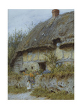 A Berkshire Cottage Giclee Print by Helen Allingham