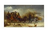 Coaching Scene - Through the Four Seasons: Winter Giclee Print by William Joseph Shayer