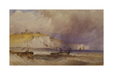 A Paddle-Steamer Leaving Dover Harbour, 1879 Giclee Print by William Callow