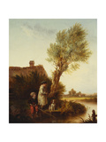 Young Anglers Giclee Print by Edmund Bristow