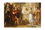 Jepthah Greeted by His Daughter Giclee Print by Erasmus Quellinus