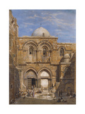 The Church of the Holy Sepulchre, Jerusalem, 1862 Giclee Print by Carl Friedrich Heinrich Werner