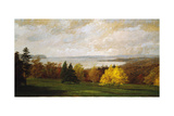 View of the Hudson Near Hastings, 1895 Giclee Print by Jasper Francis Cropsey