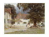 A Cart by a Village Inn, 1878 Giclee Print by Helen Allingham