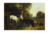 A Farmyard Scene Giclee Print by John Frederick Herring Jnr