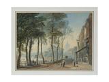 Cheyne Walk, Chelsea, 1816 Giclée-Druck von John Varley