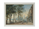 Cheyne Walk, Chelsea, 1816 Giclee Print by John Varley