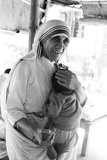 Mother Teresa with a Baby Photographic Print