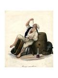 Porter Eating Macaroni, 1840 Giclee Print by Gaetano Dura
