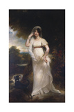Portrait of Harriet Wells in a River Landscape Giclee Print by Sir William Beechey