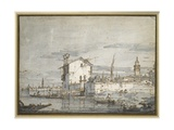 An Island in the Lagoon Giclee Print by  Canaletto