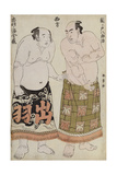 Full Length Portraits of Wrestlers of the Western Group, Depicting Sekinoto Hajiroji and… Giclee Print by Katsukawa Shunsho
