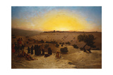 Pilgrims Worshipping Outside Jerusalem Giclee Print by Charles Theodore Frere