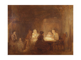 The Cotters Saturday Night - a Sketch Giclee Print by Sir David Wilkie