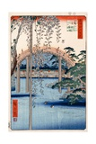 Grounds of Kameido Tenjin Shrine, Plate 57 from the Series 'One Hundred Views of Famous Places in… Giclee Print by Ando Hiroshige