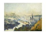 St. Catherine's Mountain, Rouen Giclee Print by Albert-Charles Lebourg