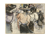 Elegant Ladies in the Street Giclee Print by Henry Somm