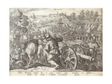 The Battle of Mons Regionis, Plate from 'The History of the Medici', Engraved by Philip Galle… Giclee Print by Jan van der Straet