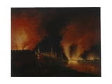 The Fire of Moscow in September 1812, after 1812 Giclee Print by Johann Christian Oldendorp