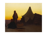 An Arab Encampment Giclee Print by Charles Theodore Frere