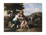 Nymphs Gathering Flowers in a Landscape Giclee Print by Gerard Hoet