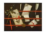 A Trompe L'Oeil Letter Rack, 1701 Lámina giclée por Evert Collier