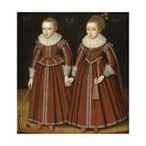 Portrait of Stephen and Mary Phesant, 1623 Lámina giclée