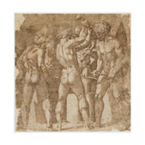 Forge of Vulcan Giclee Print by Egbert van the Elder Heemskerck