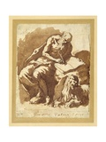 St. Jerome Seated on a Rock, Writing Giclee Print by Jacopo Negretti
