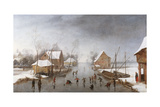 A Winter River Landscape Giclee Print by Jan Wildens