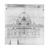 Design for the Ecole Militaire in Paris, 1769 Giclee Print by Jacques-Ange Gabriel