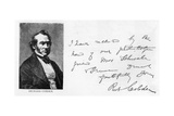 Handwriting and Signature of Richard Cobden Giclee Print