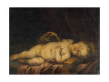 Christ Child Asleep on the Cross Giclee Print by Bartolome Esteban Murillo