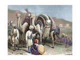 Caravan of Camels Resting on a Silk Route, Antioch Giclee Print