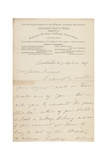 Letter to an Unnamed Recipient, Rochester, Ny, 11 April 1887 Giclee Print by Susan Brownell Anthony